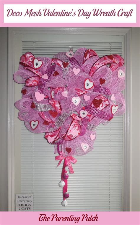 valentines mesh wreath deco mesh s day wreath craft parenting patch