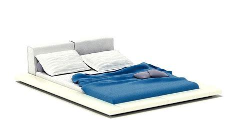 beds low to the floor low floor bed 3d model cgtrader