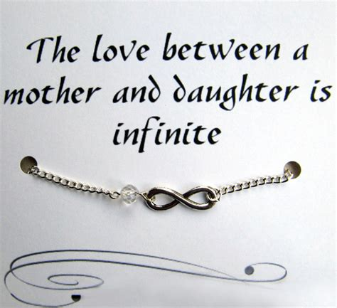 Mother and Daughter Infinity Charm Bracelet with Inspirational Quote Card   Jills Jewels 4 You