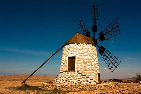 tefia windmill fuerteventura  canary islands spain hd