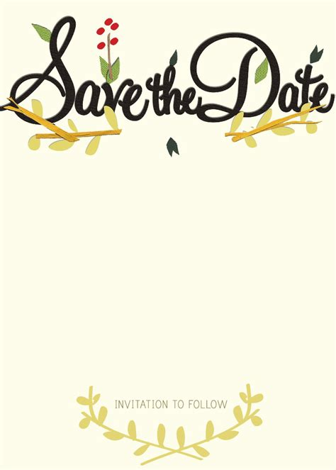 save the date birthday card template save the date templates