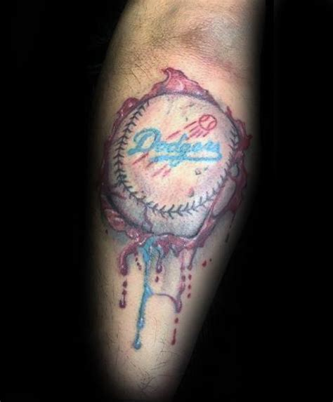 watercolor tattoos los angeles 60 los angeles dodgers tattoos for baseball ink ideas