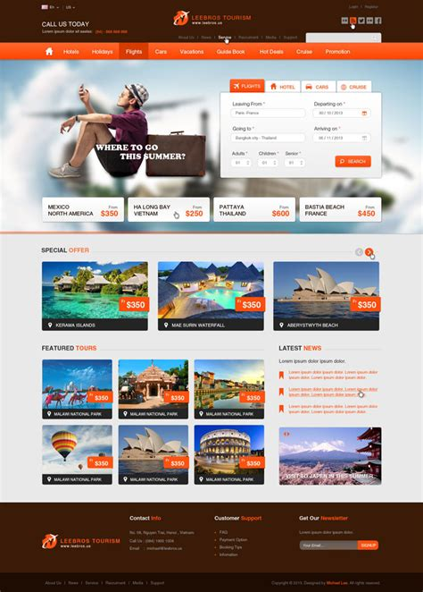 travel booking template 10 best travel psd templates for inspiration