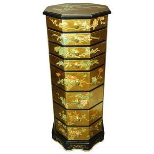 oriental jewelry armoire oriental furniture gold leaf jewelry armoire