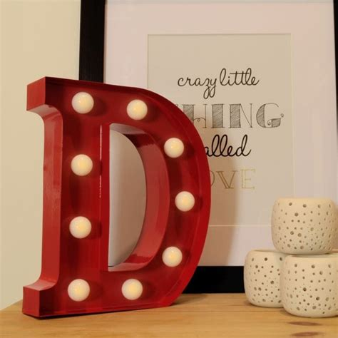 Gift With Letter D Metal Letter Lights D Find Me A Gift