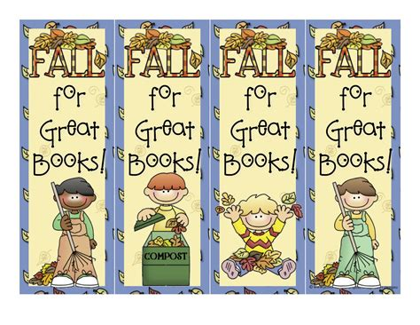 printable bookmarks fall mrs bonzer s miscellaneous printables