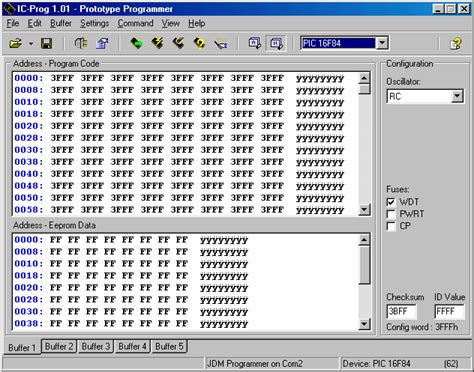 integrated circuit programming software ic prog prototype programmer programs pic16f818 16f819 16f630 16f676 12c508 16c84 16f84