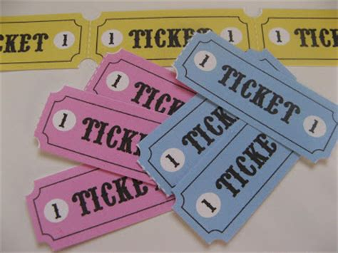 printable pretend tickets gingham cherry play tickets free printable
