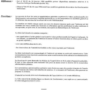 Modele Appreciation Notation Fonctionnaire