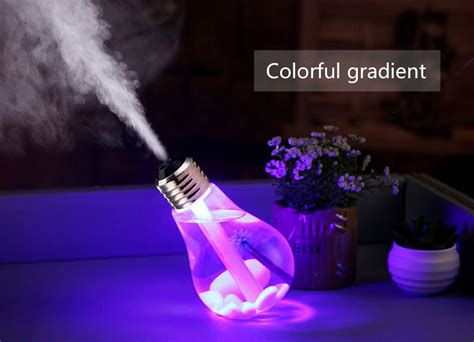 Baymax Mini Led Rgb Humidifier Usb 400ml wholesale brelong usb dc 5v 7 colors changes light ultrasonic humidifier air purifier