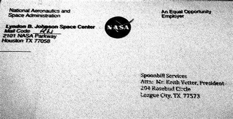 Addressing Business Letter Attn nasa letter envelope page 4 pics about space