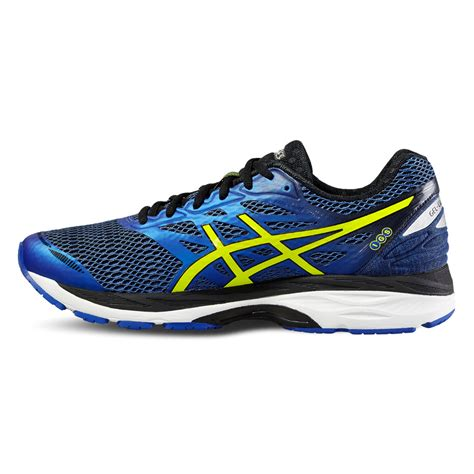 asics sport shoes asics gel cumulus 18 mens blue black cushioned running