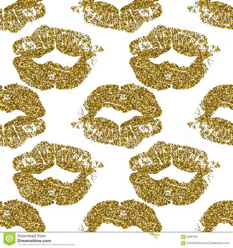 gold pattern holdings seamless lips background vector illustration
