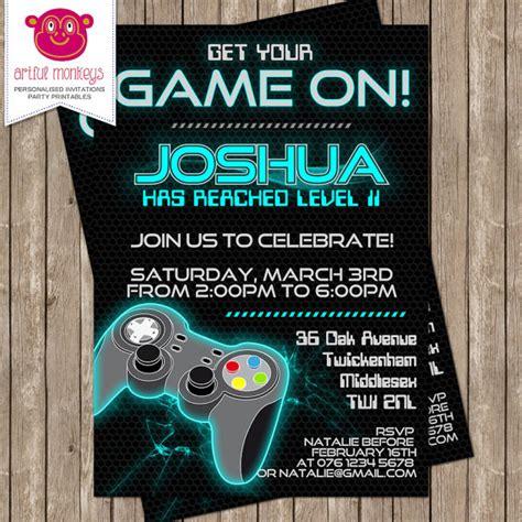 free printable birthday invitations video games printable video game party invitation