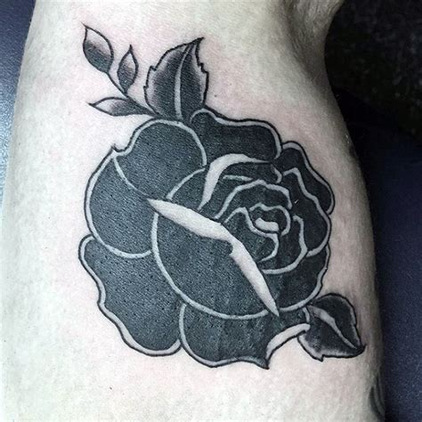 traditional black rose tattoo 50 traditional designs for flower ink ideas