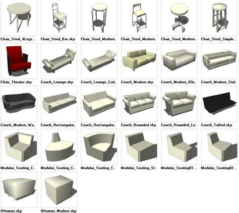 3d Cad Blocks Furniture Free by Sketchup Seating 3d Models Cad Design Free