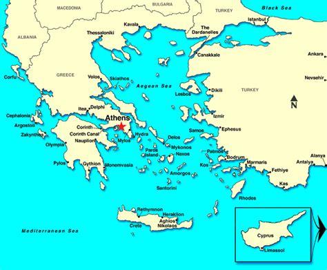 athens piraeus greece map images
