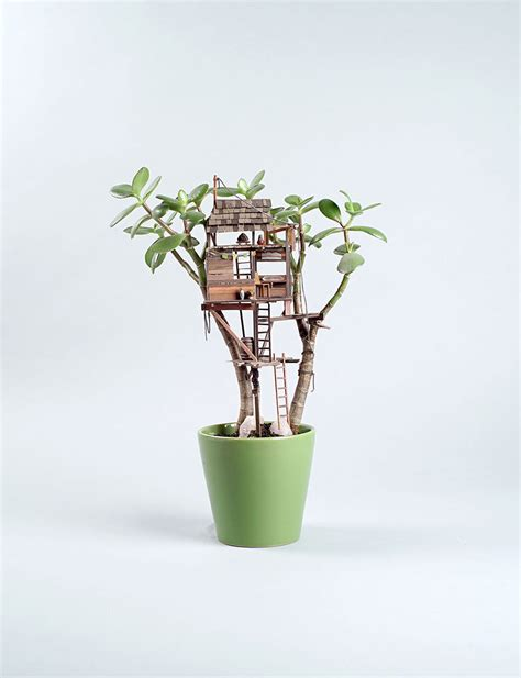 mini plants miniature tree houses for houseplants are just perfect for