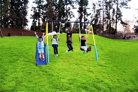 backyard swing set sportspower outdoor my metal swing set walmart
