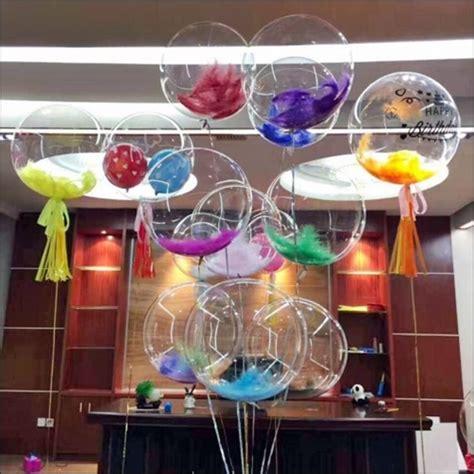 Balon Transparan 18 Korea balon pvc transparan kualtas terbaik balloon corner