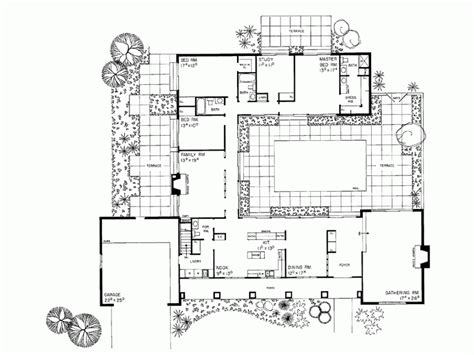 Eplans Ranch House Plan Courtyard Classic 3110 Square Single Level House Plans With Courtyard