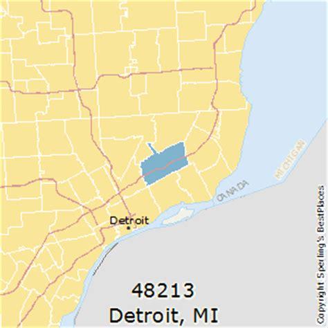 detroit zip code map best places to live in detroit zip 48213 michigan