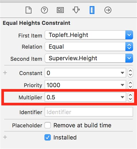 autolayout remove height constraint autolayout ios distribute four views evenly stack