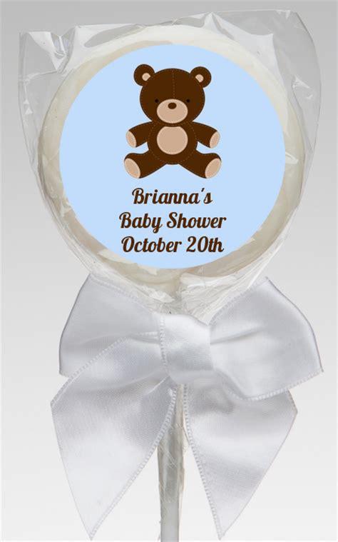 Teddy Baby Shower Favors by Teddy Blue Baby Shower Lollipop Favors Teddy