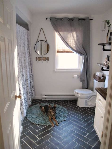 Homeowner gives 1900 home's original white hex tile an