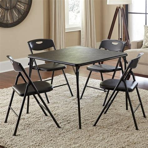 cosco products 5 folding table and chair set black cosco folding table and chairs cosco home and office
