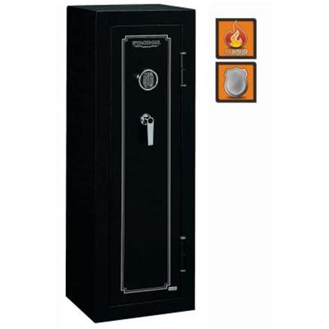 stack on 14 gun electronic lock in matte black