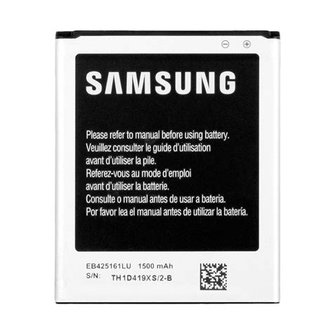 Baterai Hp Samsung Galaxy S3 Mini jual samsung original eb425161lu baterai for samsung galaxy ace 2 i8160 s3 mini eb f1m7flu