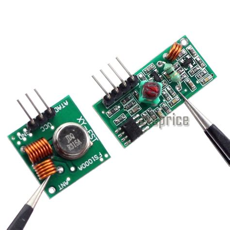 Rf Wireless Transmitter 433mhz wl rf transmitter receiver link kit module for