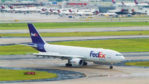 atlanta 2014 fedex airbus a310 air cargo freighter driving on a taxiway at atlanta