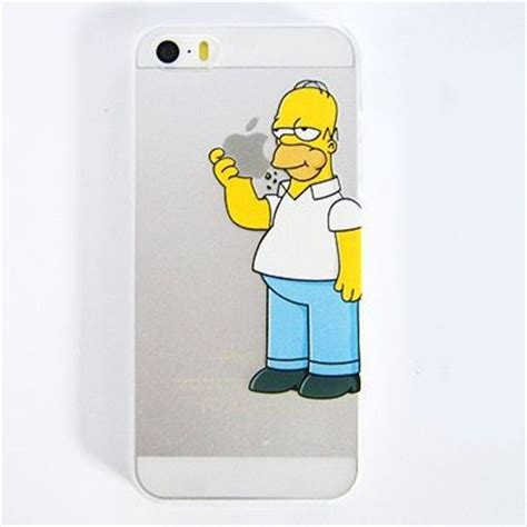 Dropdead D0009 Iphone 6 6s para iphone 4 4s 5 5s 5c os simpsons homer comer logotipo
