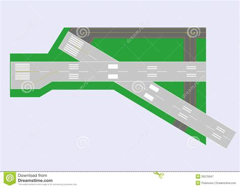 runway layout manager airport runway top view royalty free stock photography