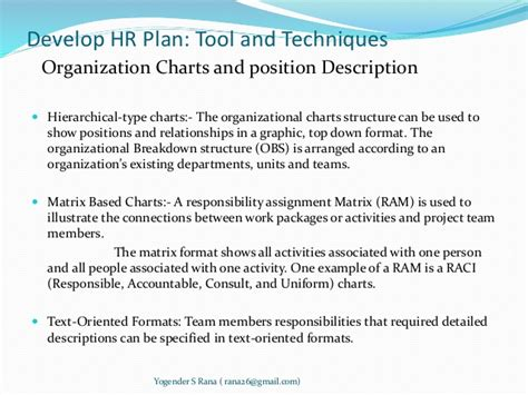 human resource plan template for project managers project human resource management