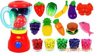 Toys Toys Blender Playset Learn Colors Fruits Vegetables Food