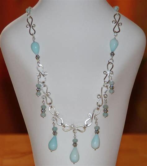 wire wrapped handmade blue peruvian opal