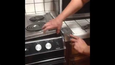 how to remove built in drop in stove range and convert