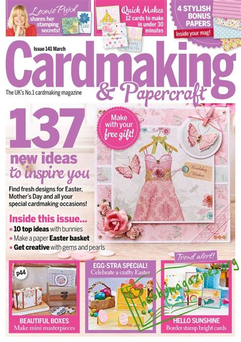 Cardmaking And Papercraft Free Downloads - cardmaking papercraft march 2015 187 hobby magazines