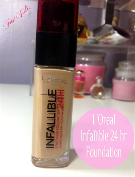 Loreal Infallible 24hour l oreal infallible 24 hr foundation the review justjulie