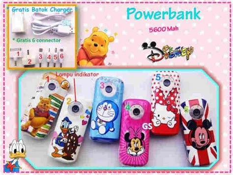 Power Bank Boneka grosir powerbank disney grosir aksesoris hp tokoacchp