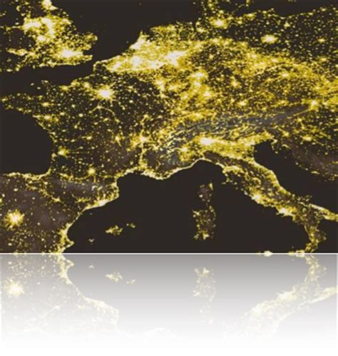 light pollution in europe