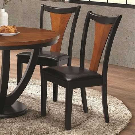 coaster dining chairs coaster boyer contemporary side chair with upholstered