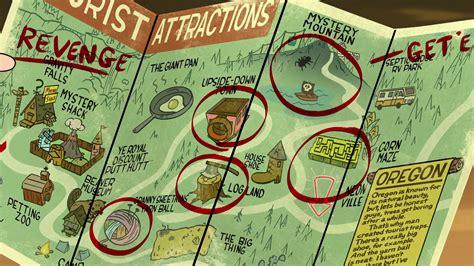 map of oregon gravity falls serialowe miasteczka gravity falls rykoszetka o życiu w