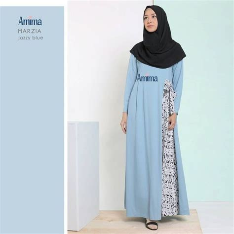 Baju Muslimah Syarii Cantik gamis amima marzia dress jazzy blue baju muslim wanita