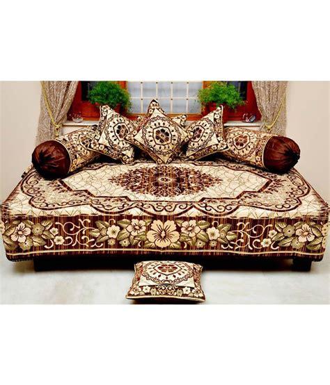 Sofa Set Buy Online India by Sambhav Diwan Set 1 Single Bed Sheet 2 Bolster Cover Amp 5