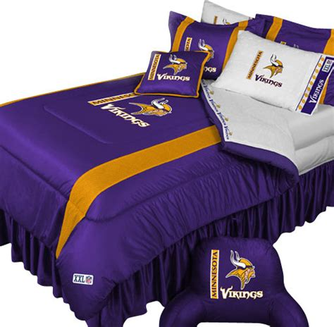 nfl minnesota vikings football team 5 piece queen bedding