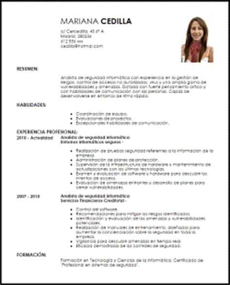 Plantilla De Curriculum Informatico Modelo Curriculum Vitae Analista De Seguridad Inform 225 Tica Livecareer